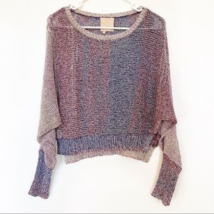 Chaser | Open Knit Multi Color Hi Lo Pullover Top